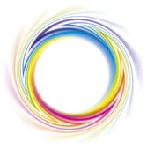 Abstract frame of the spiral curled rainbow spectrum — Stock Vector