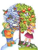 The symbolic image of the seasons — Stock Photo