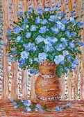 Ramo de flores azules — Foto de Stock