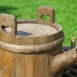 The old barrel on the wagon — Foto de Stock