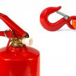 The emergency cord and fire extinguisher — Stock Photo