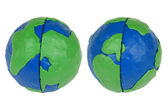 The two hemispheres of the Earth — Stock Photo