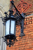 Lantern on the wall of Chernivtsi National University building ( — Foto Stock