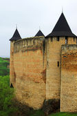 View of Khotyn fortress, Western Ukraine (XIII century) — Stock Photo
