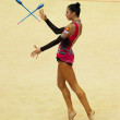 Stock Photo: Daria Dmitrieva (Russia) performs at Deriugina Cup (Rhythmic Gymnastics World Cup)