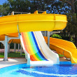Aquapark slides, Turkey — Stock Photo