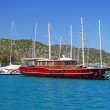 Moored yachts, Bodrum, Turkey — Stock Photo #10471857