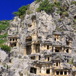 Ancient lycian tombs in Myra, Turkey — Stock Photo