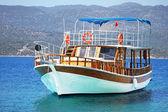 Beautiful wooden ship in Aegean sea, Turkey — Stock Photo