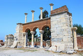 The ruins of basilica of St. John in Selcuk, Turkey — Stock Photo