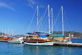 停泊的游艇,土耳其 kekova 岛附近 — 图库照片