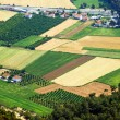 Aerial view over agricultural fields in Turkey — Stock Photo