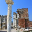 Ruins of st. Johns Basilica at Ayasuluk Hill - Selcuk, Ephesus, - Stock Photo