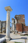Ruins of st. Johns Basilica at Ayasuluk Hill - Selcuk, Ephesus, — Stock Photo
