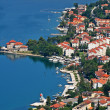 Kotor old town and Boka Kotorska bay, Montenegro - Stock Photo
