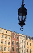 Krakow şehrinde pazar meydanında tarihi bir binada bir parçası. Polonya — Stok fotoğraf