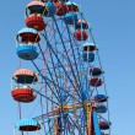 Attraction -a Big wheel in Sevastopol in Historical Parkway — Stock Photo