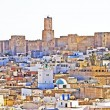 Overall view of city, roofs of houses, archeology museum of Sousse, Tunisia — Stock Photo
