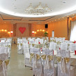 Fancy wedding reception areready for guests and party — Stock Photo #8404547