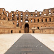 Amphitheater in El Jem, Tunisia — Stock Photo