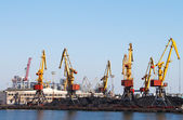 Trading seaport with cranes in Odessa, Ukraine — Stock Photo