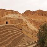 Mountain oasis Chebika at border of Sahara, Tunisia, Africa — Stock Photo