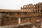 Amphitheater in El Jem, Tunisia — Stock Photo