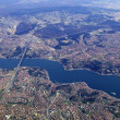 Istanbul and Bosphorus from the air - Stock Photo