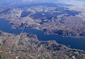 Istanbul and Bosphorus from the air — Stock Photo