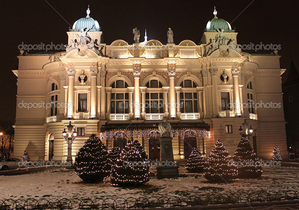 The Slowacki theatre, Krakow — Stock Photo #9319183
