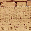 Old egypt hieroglyphs from Karnak temple in Luxor — Stock Photo