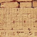 Old egypt hieroglyphs from Karnak temple in Luxor — Stock Photo