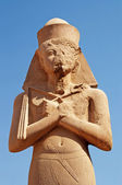 Pharaoh statue at Karnak Temple in Egypt — Stock Photo