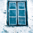 Cold window - Stock Photo