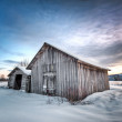 Stock Photo: Winter barn