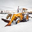 Winter tractor - Stock Photo