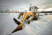 Winter tractor — Stock Photo
