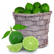 Stock Photo: Basket with fruit