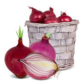 Basket with vegetable — Stock Photo
