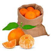 Bag with fruit — Stock Photo