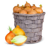 与蔬菜篮 — 图库照片