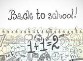 School achtergrond — Stockvector