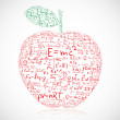 Apple with equations — Stock Vector