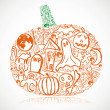 Halloween pumpkin — Stock Vector #8921648