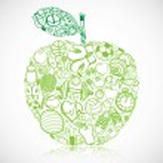 Fitness apple — Stock Vector