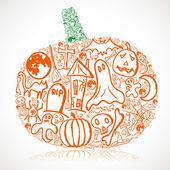 Halloween pumpkin — Stock Vector