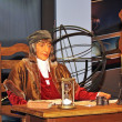 Stock Photo: Wax figure of medieval astronomer