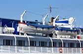 Upper deck of the river passenger liner — Stock Photo