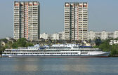 River passenger liner — Stock Photo
