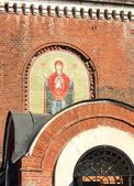 Wall of the orthodox church — Stock Photo